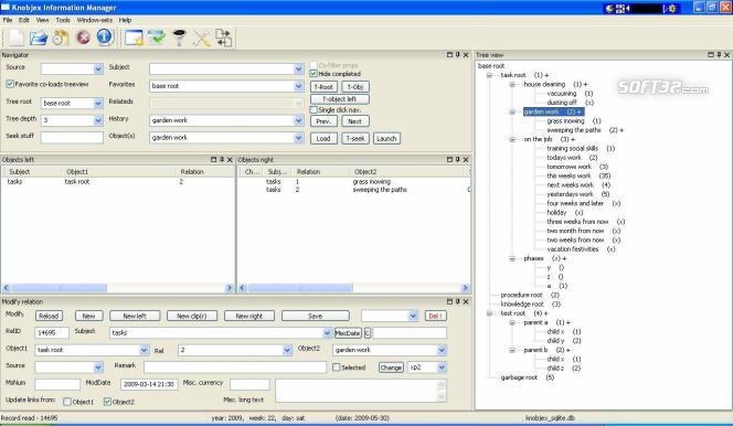 Knobjex Information Manager Screenshot 2