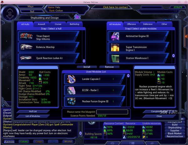 Galaxy Online Screenshot 2