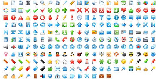 16x16 Free Application Icons Screenshot