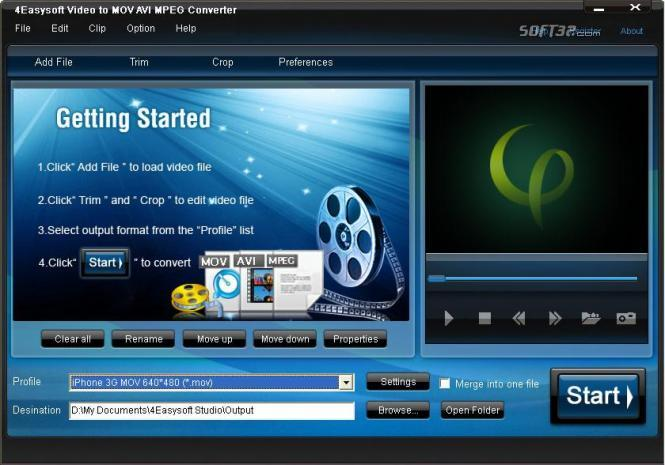 4Easysoft MOV AVI MPEG Converter Screenshot 2