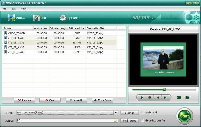 Wondershare DPG Converter Screenshot