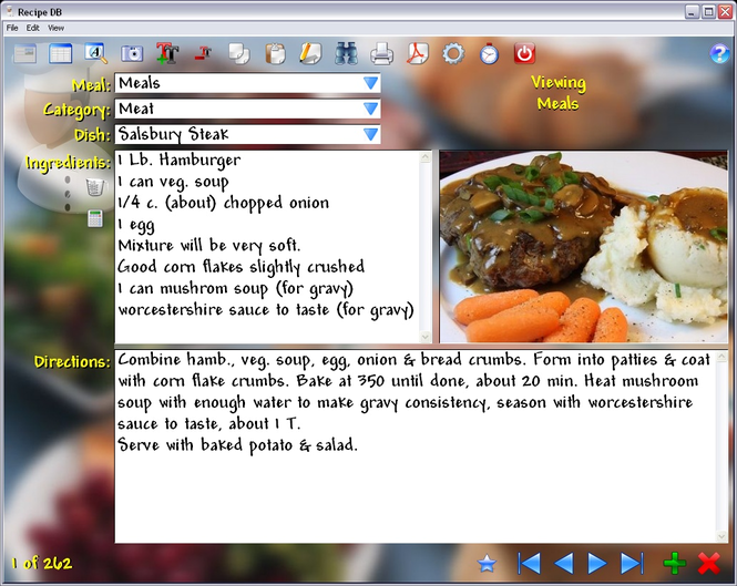 Recipe DB Screenshot