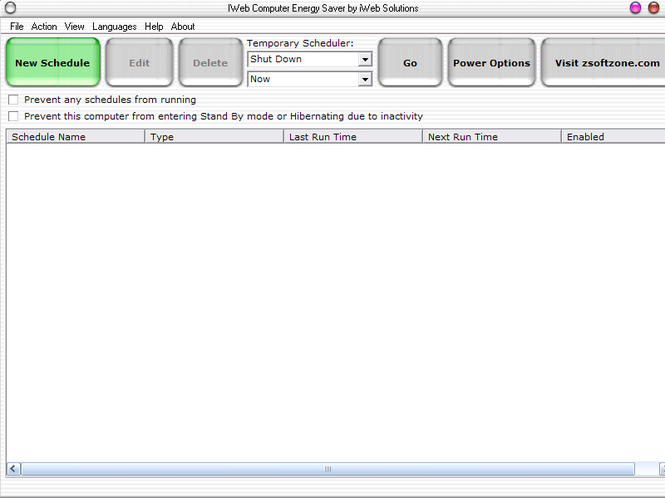 iWeb Computer Energy Saver Screenshot
