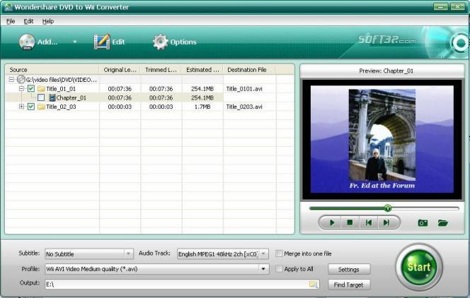 Wondershare DVD to Wii Converter Screenshot 1
