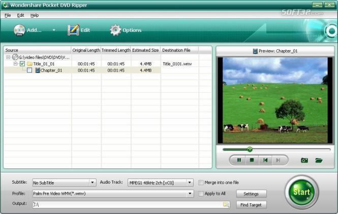 Wondershare Pocket DVD Ripper Screenshot 1