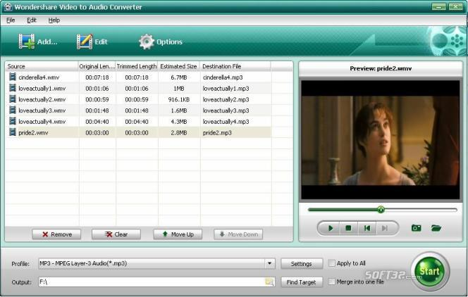 Wondershare Video to Audio Converter Screenshot 1