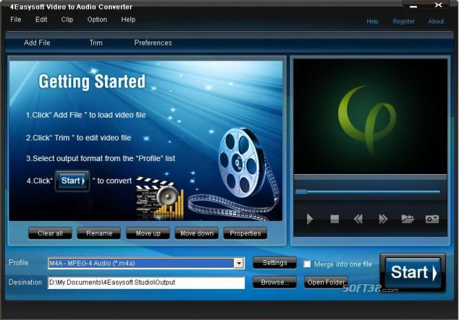 4Easysoft Video to Audio Converter Screenshot 3