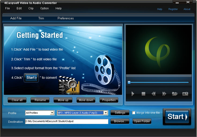 4Easysoft Video to Audio Converter Screenshot 1