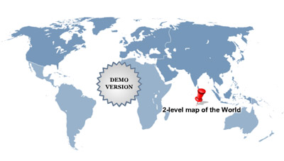 Multi-level World Map (Complete set #2) Screenshot