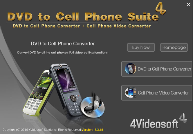 4Videosoft DVD to Cell Phone Suite Screenshot 2