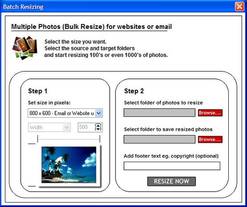 Bulk Photo Resizer Screenshot