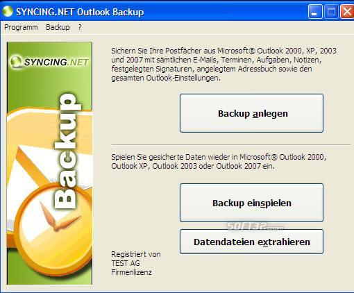 SYNCING.NET Outlook Backup Screenshot 3