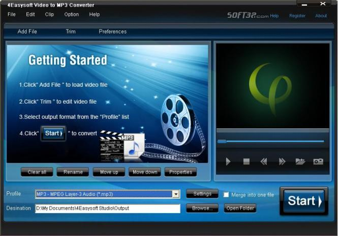 4Easysoft Video to MP3 Converter Screenshot 3