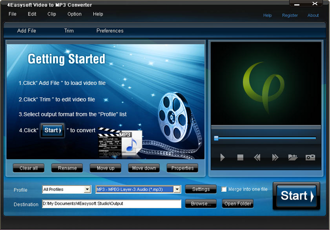 4Easysoft Video to MP3 Converter Screenshot 1