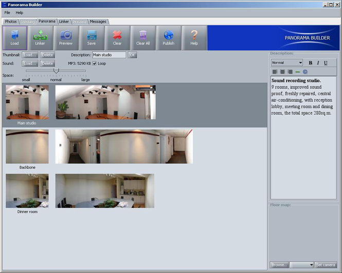SOFTEKS Virtual Tour Creator Screenshot