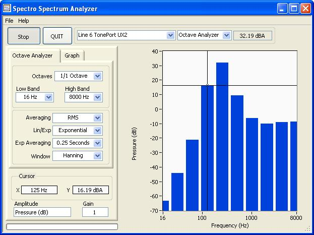 Spectro Spectrum Analyzer Screenshot