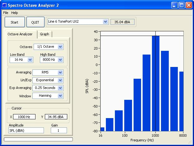 Spectro Octave Analyzer Screenshot