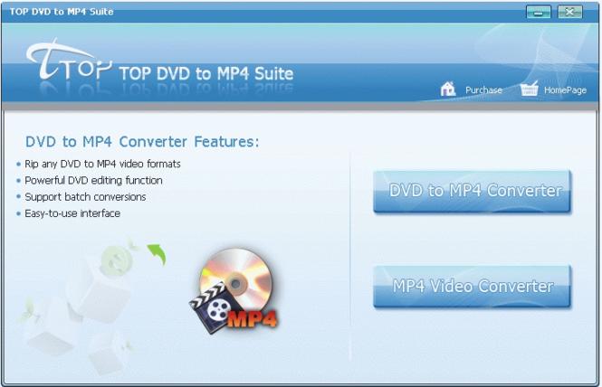 TOP DVD to MP4 Suite Screenshot 1