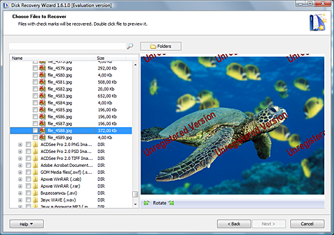 Disk Recovery Wizard Screenshot
