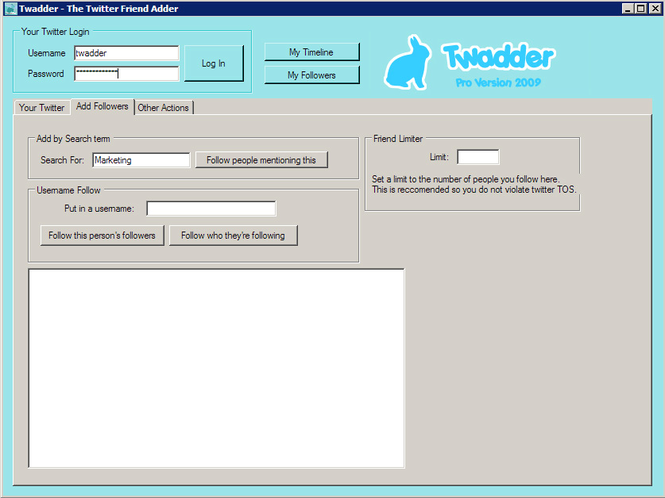 Twadder Pro Screenshot