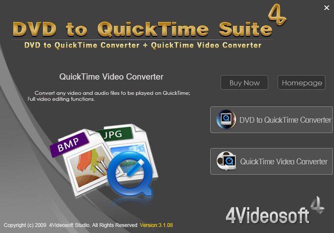 4Videosoft DVD to QuickTime Suite Screenshot 2