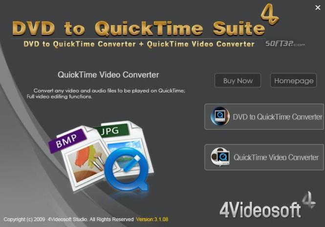 4Videosoft DVD to QuickTime Suite Screenshot 3