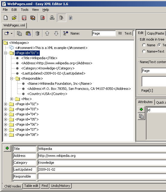 Easy XML Editor Screenshot