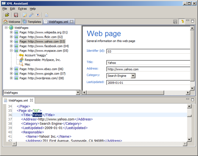 XML Assistant Screenshot