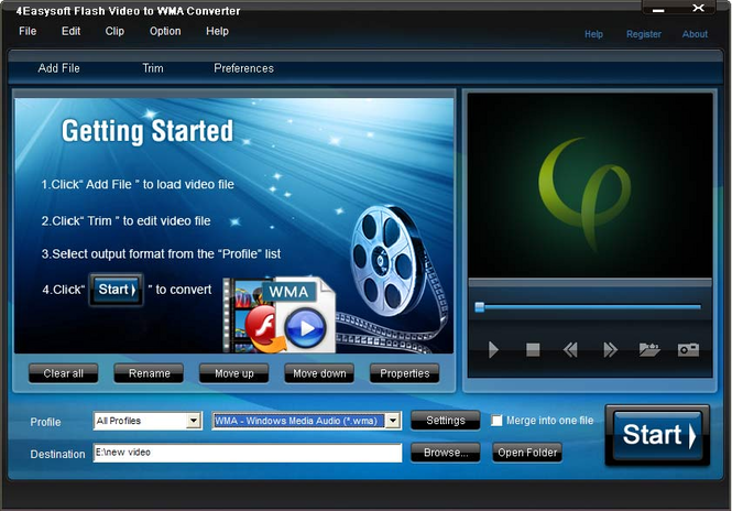 4Easysoft Flash Video to WMA Converter Screenshot