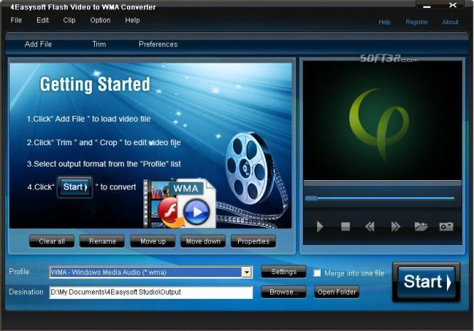4Easysoft Flash Video to WMA Converter Screenshot 2