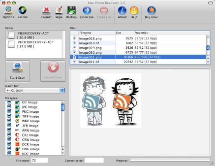 Mac Photo Recovery Screenshot 1