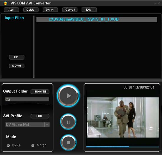 VISCOM AVI Converter Screenshot 1