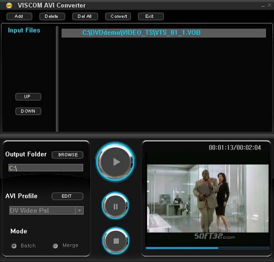VISCOM AVI Converter Screenshot 2