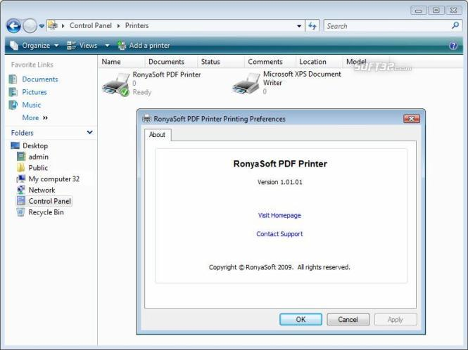 RonyaSoft PDF Printer Screenshot 2
