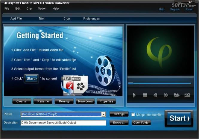4Easysoft Flash to MPEG4 Video Converter Screenshot 2
