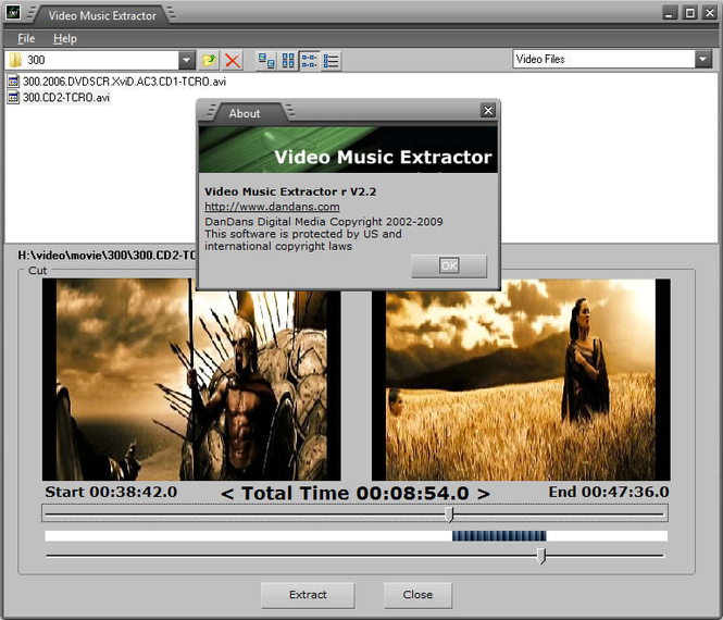 Video Music Extractor Screenshot 1
