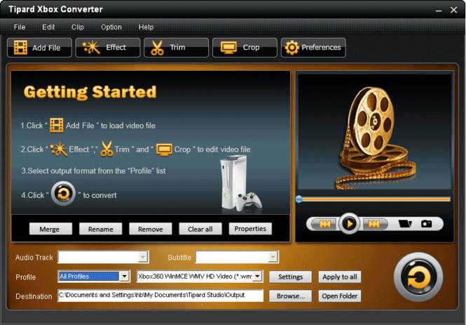 Tipard Xbox Converter Screenshot 1