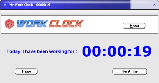 Work Clock Screenshot