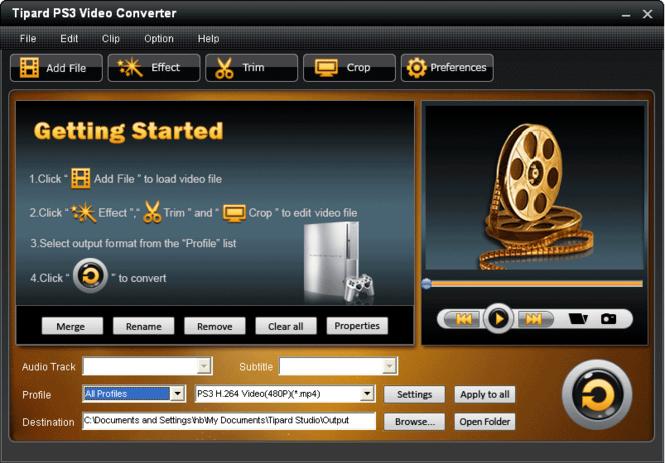 Tipard PS3 Video Converter Screenshot 2