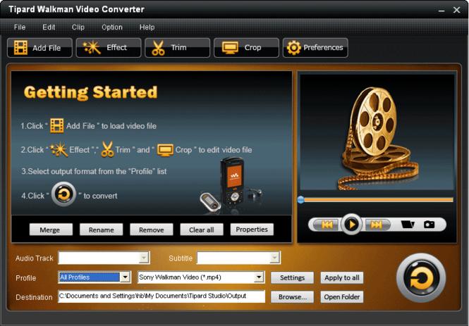 Tipard Walkman Video Converter Screenshot 2