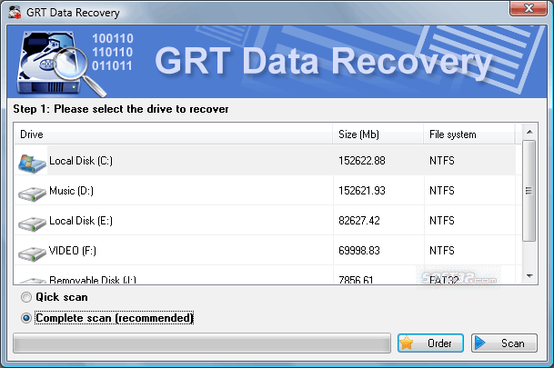 GRT Data Recovery Screenshot 3