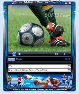 EarthMediaCenter online sports TV Screenshot 3