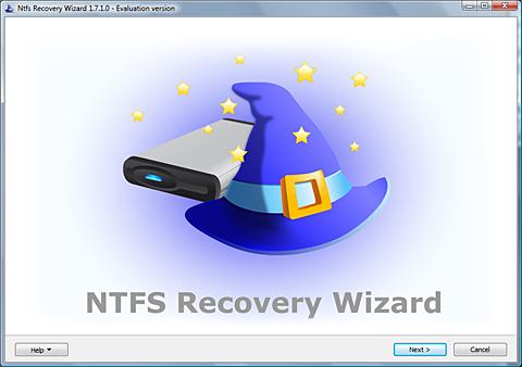NTFS Recovery Wizard Screenshot