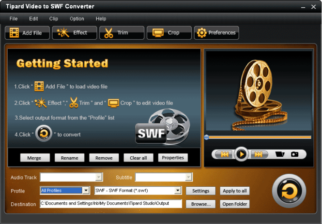 Tipard Video to SWF Converter Screenshot 2