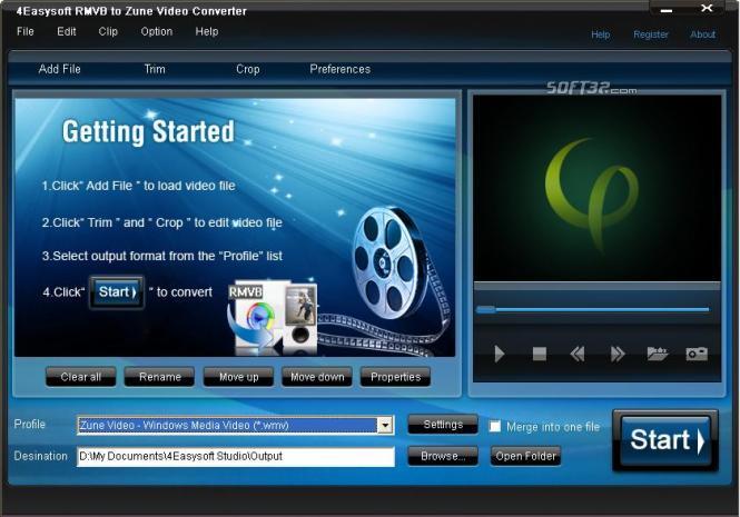 4Easysoft RMVB to Zune Video Converter Screenshot 3