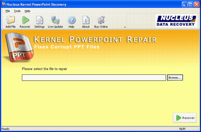 PowerPoint Repair Screenshot