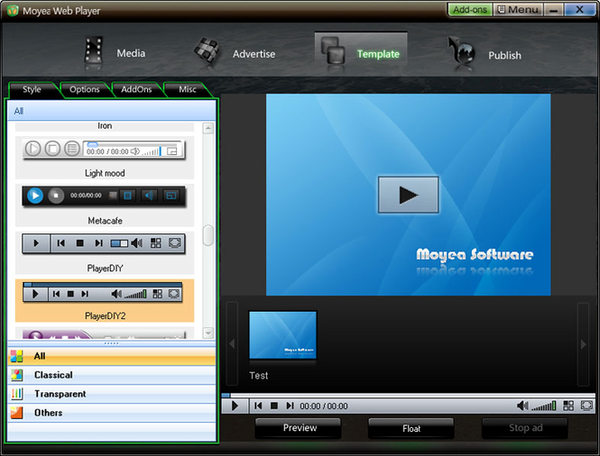Moyea Web Player Screenshot