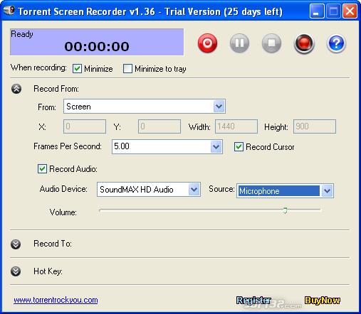 Torrent Screen Recorder Screenshot 3