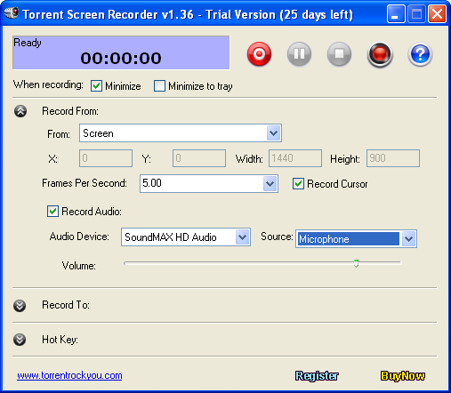 Torrent Screen Recorder Screenshot