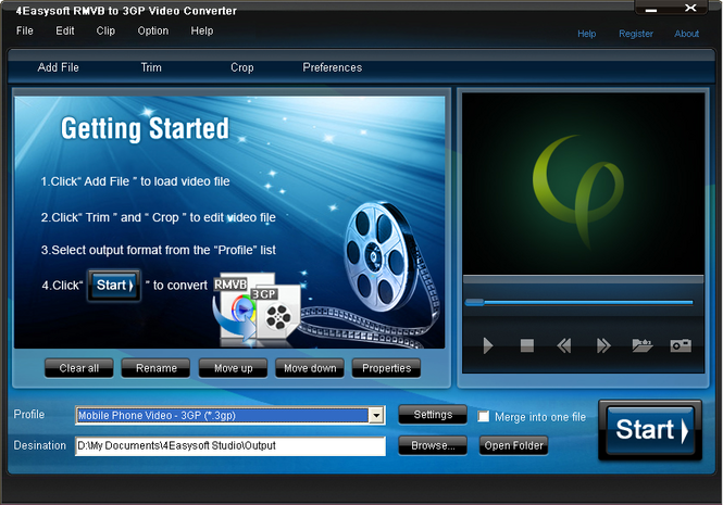 4Easysoft RMVB to 3GP Video Converter Screenshot 1